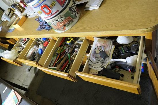 Contents of Four Drawers Lot - Tools etc