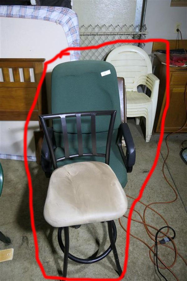 Group lot of chairs
