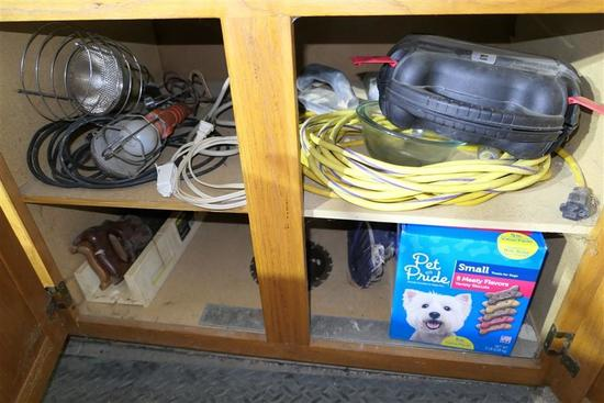 Contents of Cupboard - Wire, lights etc