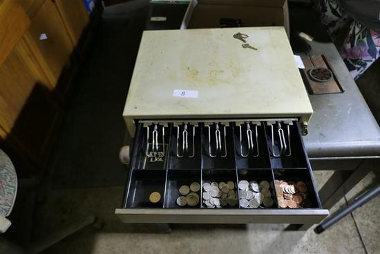 Metal Cash Register Box - Locks w/key