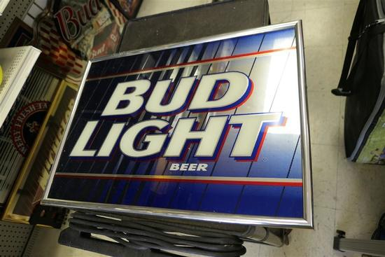 Vintage Bud Light Mirror Bar Sign