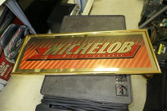 Vintage Michelob Beer Mirror Bar Sign