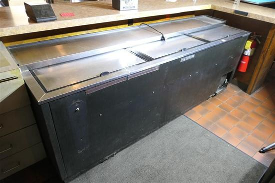 8' True Bar Back Cooler