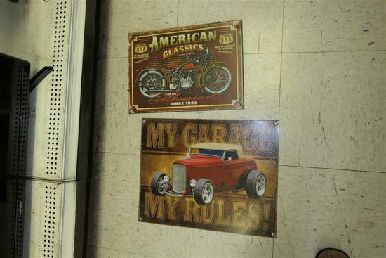 2 Vintage Style Signs - Car/Motorcyle