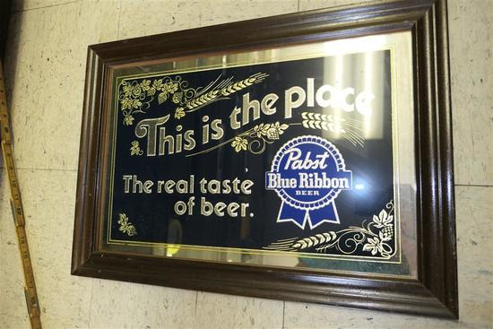 Vintage Pabst Beer Mirror from Bar