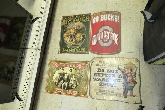 4 Vintage Style signs Inc. OSU, Dogs