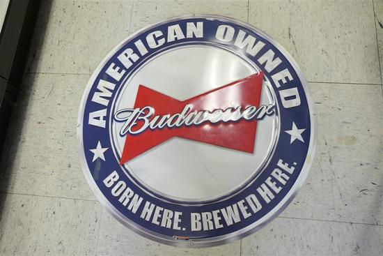 Metal Budweiser Bar Sign