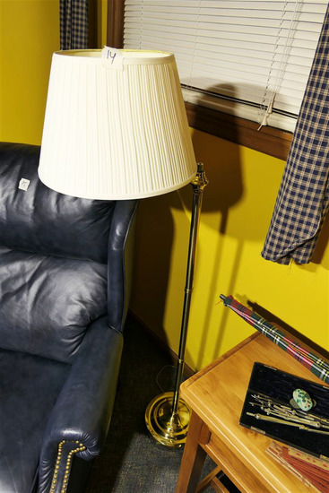 Floor lamp with Brass base