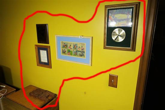 Items on wall lot Inc. Buckeyes