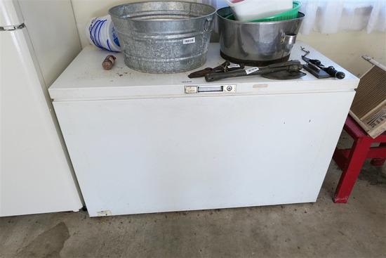 Chest freezer for scrap