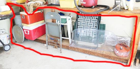 Items under work bench lot