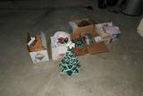Assorted old Christmas Inc. Ceramic Tree