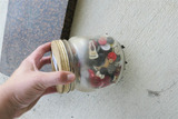 Jar of old buttons