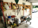 All items along wall - tools etc