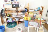 Garage area cleanout lot