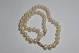 Real pearl necklace - 14k gold clasps