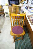 2 high backed wooden stools