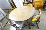 Vintage table & four chairs