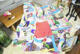 Large sized crazy quilt