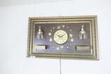 Vintage Asian Clock Lamp wall hanging.