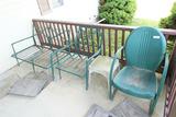 3 pcs vintage patio furniture