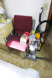 2 vacuum cleaners, chair lot