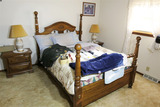 Nice four post cannonball bed