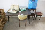 Table, Chair, wooden stands etc