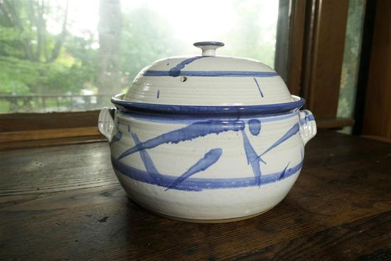 Studio Covered Casserole Pottery Piece