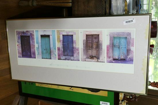 Vintage Framed Poster - Doors