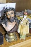 Early Chalkware Religious figure