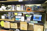 3 Shelves of assorted hardware etc