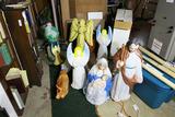 Large Assortment of Nativity figures