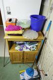 Small pine storage cabinet