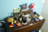 Items on top of buffet inc. Wedgwood