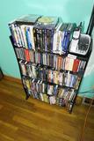 Large qty DVDs + shelf