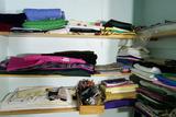 Closet shelves lot - fabrics