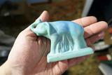 Blue Van Briggle Elephant