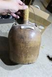 Antique Stoneware Jug w/Wire Bale