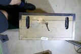 Unusual Antique Locking Military Box