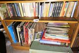 2 Shelves of old books, atlases etc