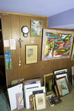 Large lot of vintage art and more.