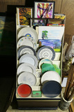 Display rack and contents Inc. Ceramic Plates