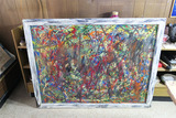 Large Modernist Action Painting