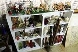 Contents of shelves, vintage, ceramics etc