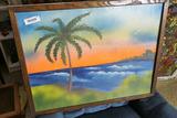 Vintage Florida Highwaymen Painting
