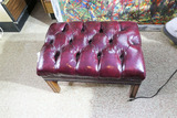 Chesterfield Type Leather Ottoman