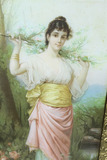 Victorian Framed Print of a girl