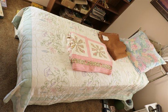 2 Vintage Hand Stitched Quilts