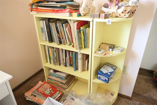 Vintage Yellow Shelves pair
